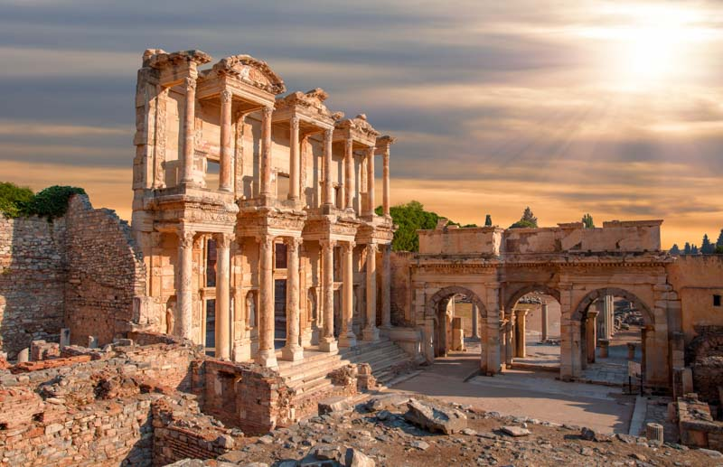 Anatolia, Celsus, Ephesus, Turkey, ancient, antique, archeology, architecture, asia, building, column, culture, efes, greek, izmir, kusadasi, landmark, library, old, roman, ruins, stone, structure, tourism, travel